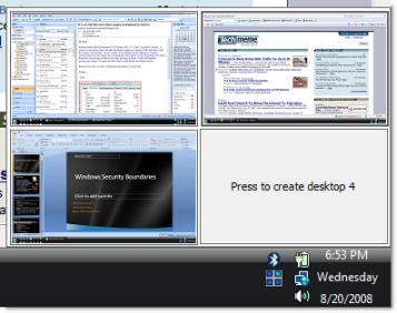 Окно программы 1 Desktops v2.0.