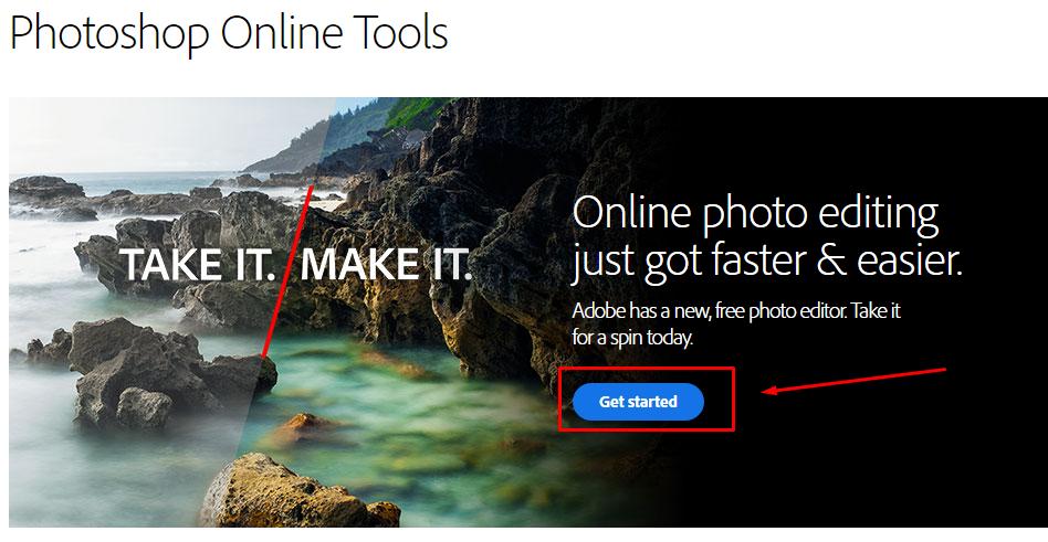 Фотошоп онлайн. Скриншот фотошопа онлайн.