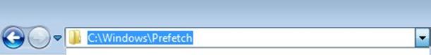 Как очистить кэш браузера. Окно папка Prefetch.