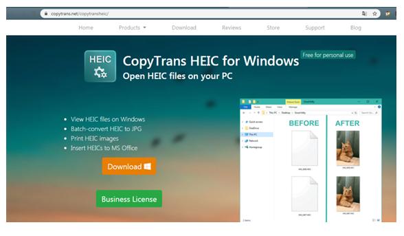 Как открыть файл heic. Окно программы CopyTrans HEIC for Windows.