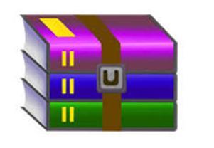 Как открыть файл rar. Логотип программы  WinRAR.