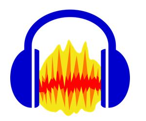 Как записать звук с компьютера. Логотип программы Audacity.