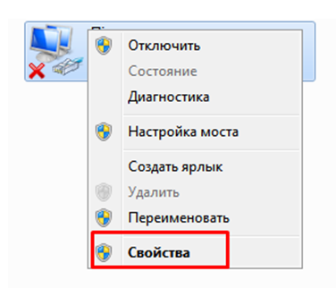 Настройка сети Windows 7. Окно сетевые адаптеры.