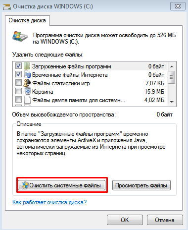Очистка от мусора Windows.