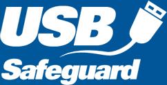Пароль на флешку. Логотип программы USB Safeguard.