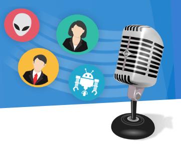 Программа для изменения голоса. Логотип Voxal Voice Changer.