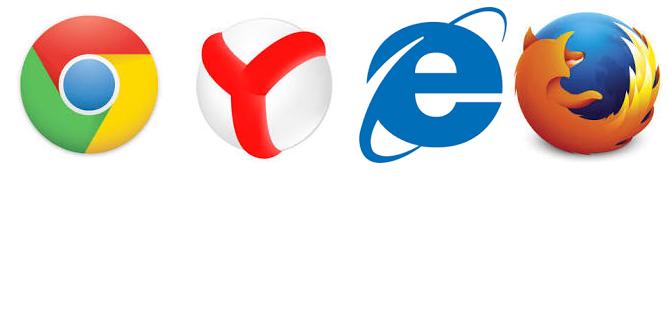 Реклама в браузере. Логотипы браузеров.