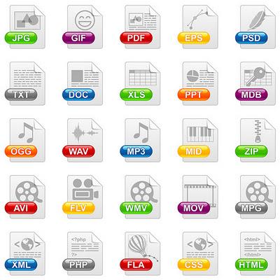 Как открыть файл. Логотипы разных файлов.