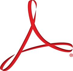 Как открыть PDF. Логотип программы Acrobat.